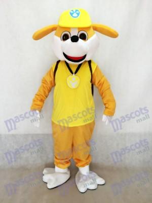 La Pat' Patrouill Bulldog anglais Paw Patrol Costume de mascotte Chien jaune