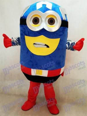 Moi, moche et méchant Despicable Me Costume de mascotte Captain America de Minions avec cape