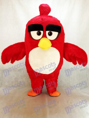 Costume de mascotte animale mignonne d'animation oiseau rouge