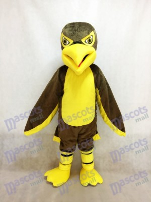 Costume de mascotte aigle marron
