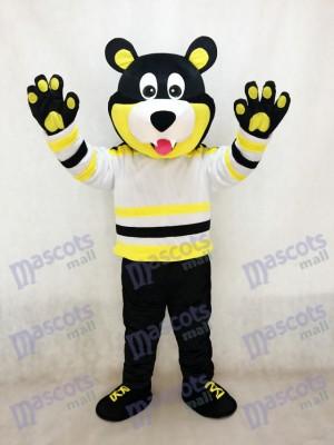 Costume de mascotte de hockey sur glace des ours d'Estevan Bruins