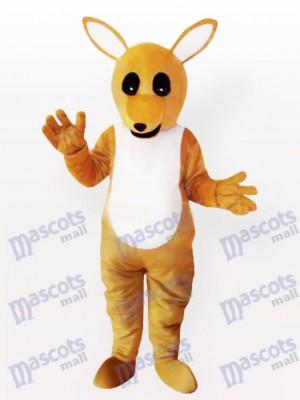 Costume de mascotte adulte kangourou jaune