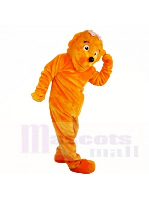 Orange Fille Drôle Lion Costumes De Mascotte Dessin animé