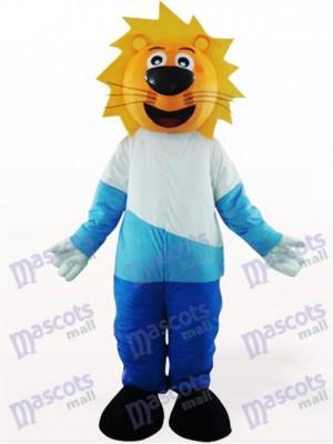 Costume de belle mascotte Leo tête jaune animaux