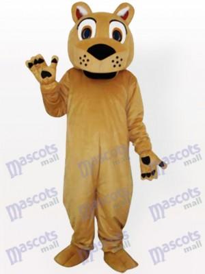 Lion de face bête avec aucun costume de mascotte adulte barbe
