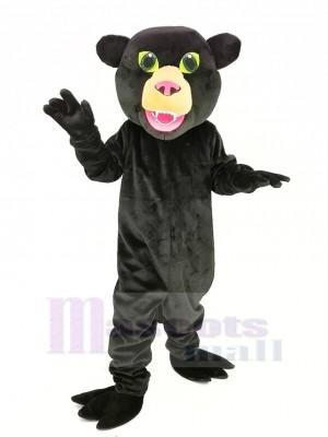 Noir Panthère avec vert Yeux Mascotte Costume Animal