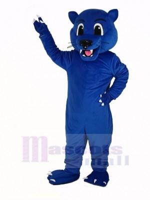 Bleu Panthère Léopard Mascotte Costume Animal
