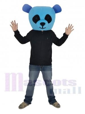 Bleu Panda avec Noir Yeux Mascotte Costume Tête seulement