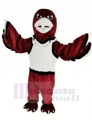 rouge Faucon de guerre Aigle avec blanc Gilet Mascotte Costume