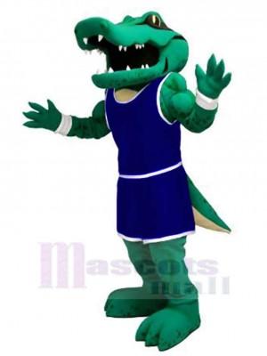 Pouvoir Alligator avec Bleu marin Uniforme Mascotte Costume Animal