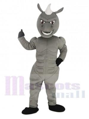 Pouvoir Muscles gris Cheval Mascotte Costume
