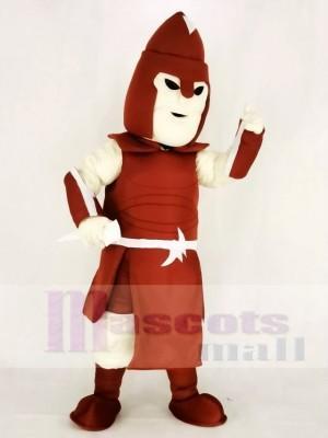Réaliste rouge Titan spartiate Mascotte Costume Adulte