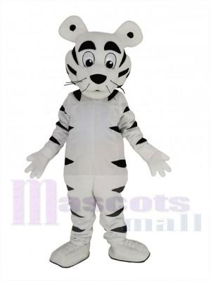Drôle blanc tigre Mascotte Costume Animal