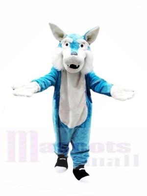 Loup bleu pas cher Costumes De Mascotte