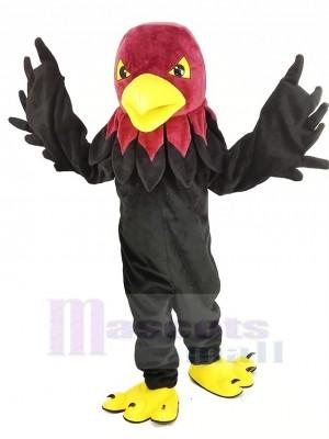 Cool Noir faucon Mascotte Costume Animal