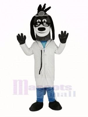 Docteur Chien avec Des lunettes Mascotte Costume Animal
