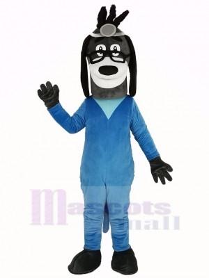 Docteur Chien dansBleu Manteau Mascotte Costume Animal