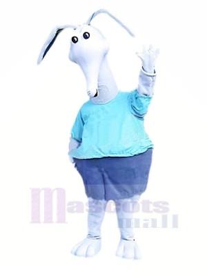 blanc Aardvark Mascotte Les costumes Dessin animé
