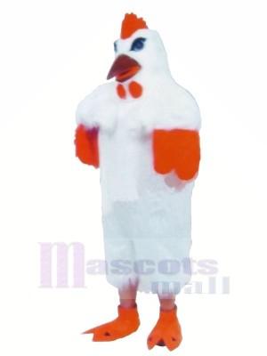 blanc Poids léger poulet Mascotte Les costumes Dessin animé
