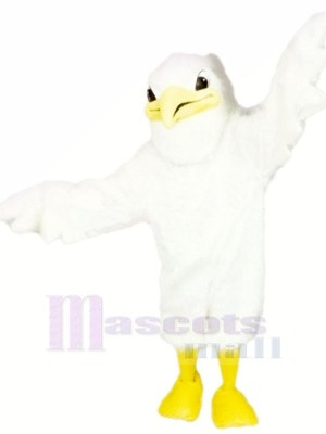 Mignonne blanc Cigogne Mascotte Les costumes Dessin animé