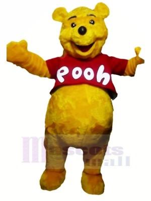 Souriant Winnie Caca Ours Mascotte Les costumes Dessin animé