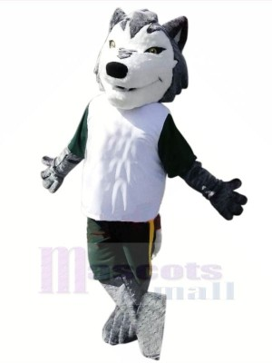 sport Loup avec Petit Les yeux Mascotte Déguisements Dessin animé