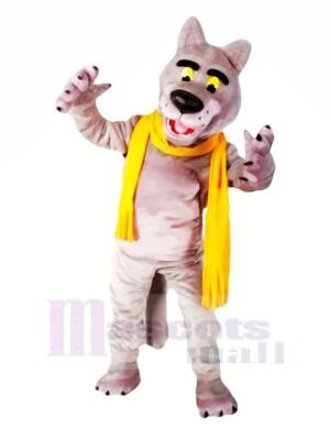 Mode Loup avec Écharpe Mascotte Déguisements Dessin animé