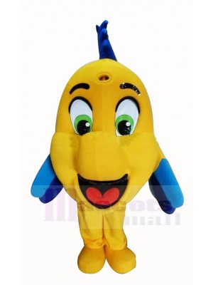 Mignonne Jaune Poisson clown Mascotte Costume Dessin animé
