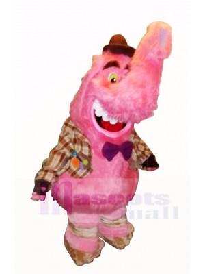 Rose Mâle l'éléphant Mascotte Costume Dessin animé