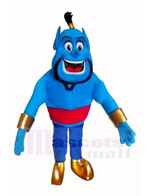 Bleu Elfe Génie Mascotte Costume Dessin animé