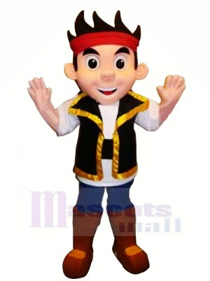Cool Pirate Jake Mascotte Costume Dessin animé