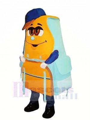 Bleu et Orange Sac à dos Mascotte Costume Dessin animé