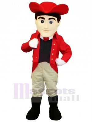 Meilleur Qualité Patriote dans rouge Mascotte Costume Gens