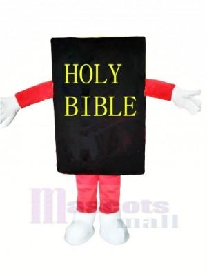 Noir Bible Mascotte Costume Dessin animé