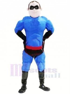 Cool Bleu Superman Mascotte Costume Gens