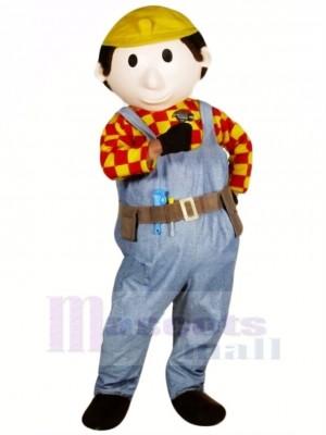 Mignonne Constructeur Copain Mascotte Costume Gens