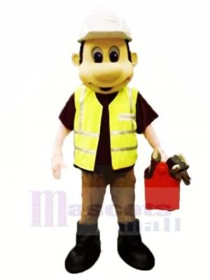 Travailleur Constructeur Mascotte Costume Gens