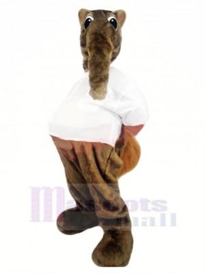 marron Fourmilier Mascotte Costume Dessin animé