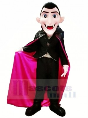 Dracula Vampire avec Bleu Yeux Mascotte Costume Dessin animé