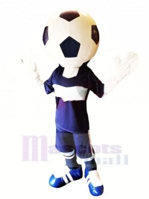 Drôle Football Tête Mascotte Costume Dessin animé