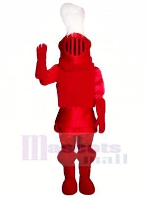 Mode rouge Chevalier Mascotte Costume Personnes
