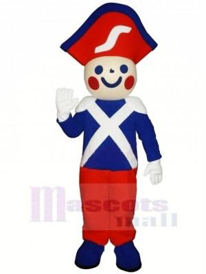 Mignonne Souriant Soldat Mascotte Costume Dessin animé