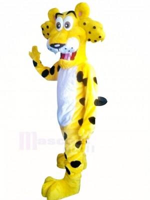 Drôle guépard avec Gros Yeux Mascotte Costume Dessin animé