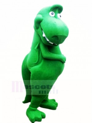 Mignonne vert Dinosaure T-Rex Mascotte Costume Dessin animé
