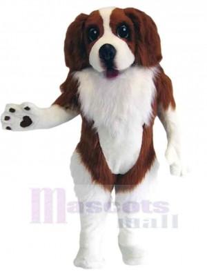 Marron et blanc Chien épagneul Costume de mascotte Animal