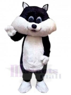Joli noir et blanc Chaton Chat Costume de mascotte Animal
