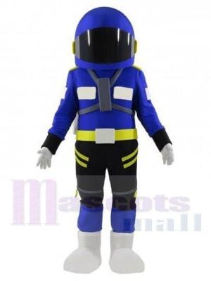 Astronaute Costume de mascotte en combinaison spatiale bleu marine Gens