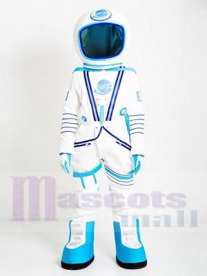 Astronaute Costume de mascotte en combinaison spatiale blanche et bleu clair Gens
