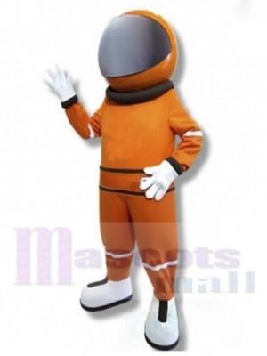 Astronaute Costume de mascotte en combinaison spatiale orange Gens