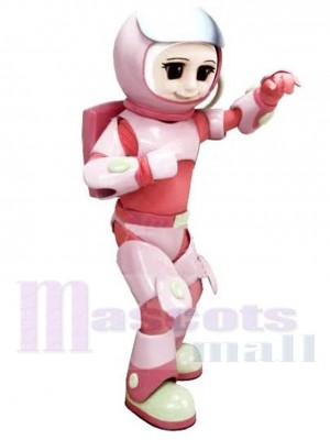 Astronaute Fille Costume de mascotte en combinaison spatiale rose Gens